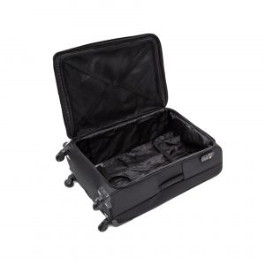 Grande Valise en Nylon Noir, 4 roulettes multidirectionnelles, 92L, 5.2Kg