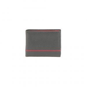 Portefeuille 71023 noir rouge vue de face