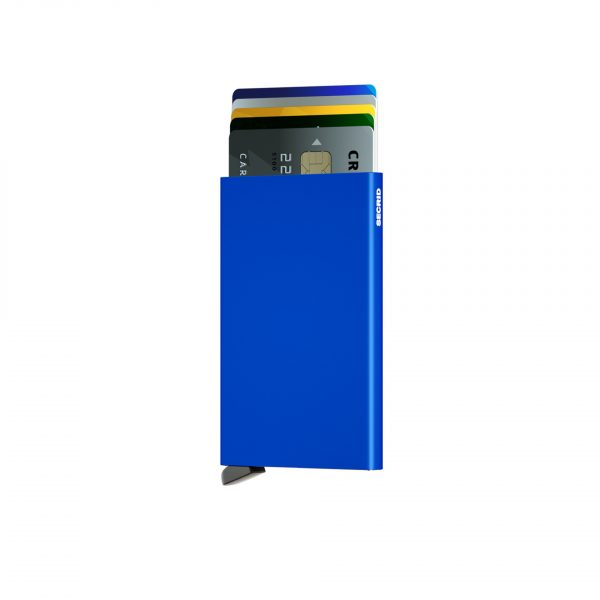 Porte cartes SECRID aluminium BLEU