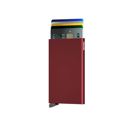 Porte cartes SECRID aluminium BORDEAUX