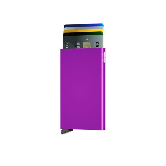 Porte cartes SECRID aluminium Violet