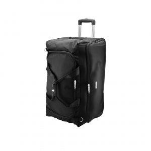 nd sac de voyage en Nylon noir, hyper partique, 2 roulettes, 72L