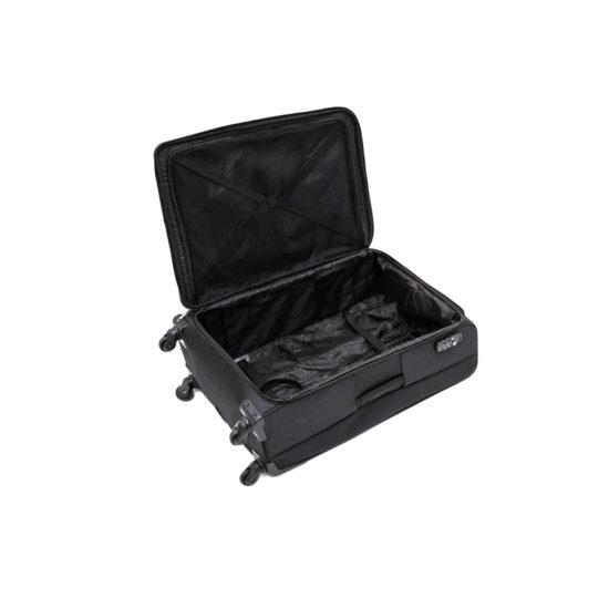 Valise moyenne en Nylon Noir, 4 roulettes multidirectionnelles, 58L, 4.4Kg