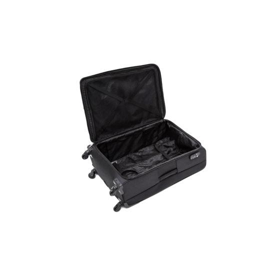 Valise cabine en Nylon Noir, 4 roulettes multidirectionnelles, 32L, 3.3Kg