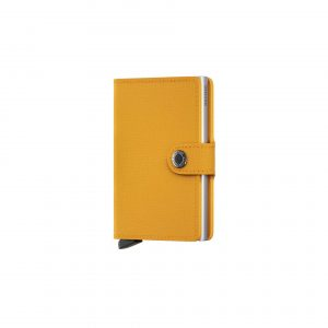 Portefeuille compact Jaune