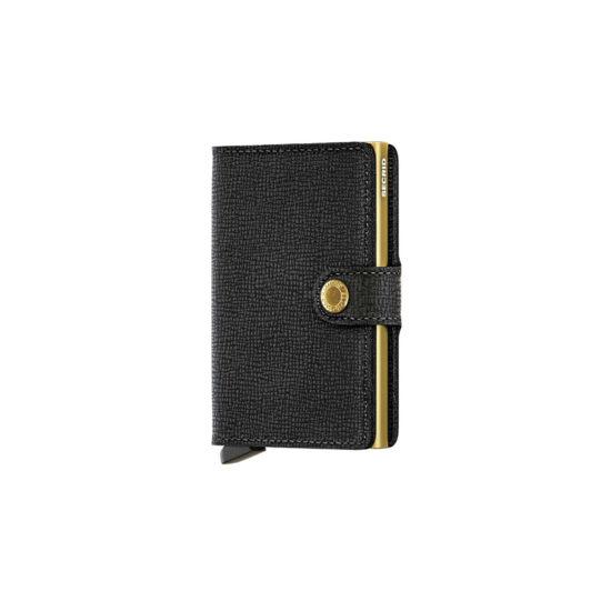 Portefeuille compact Noir Gold