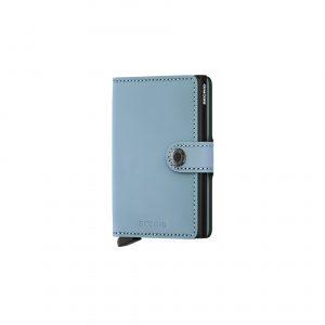 Portefeuille compact bleu lagon