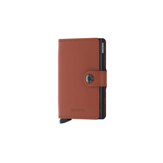 Portefeuille compact marron