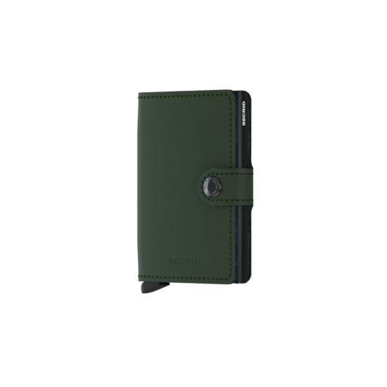 Portefeuille compact Vert Foncé