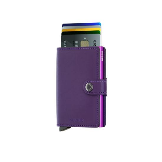 Portefeuille compact Violet