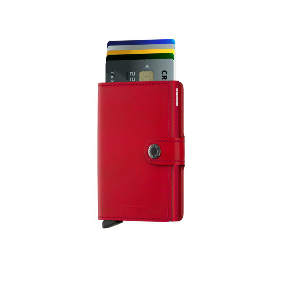Portefeuille compact original rouge