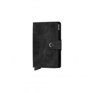 Portefeuille compact noir vintage