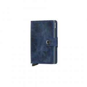 Portefeuille compact bleu vintage