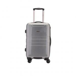 Valise moyenne noir/gris ABS et polycarbonate 65L, 3.4kg