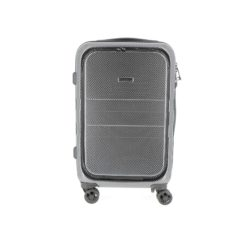Valise cabine, ouverture sur le devant noir/gris ABS et polycarbonate 2.75kg