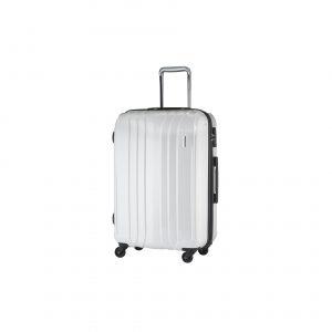 Elégante valise cabine blanche ABS et polycarbonate. 36L, 2.6Kg