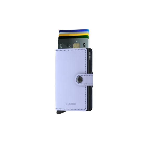 Mini porte carte MATTE RFID Lila