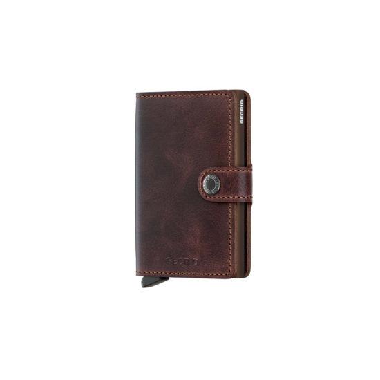 Mini porte carte MATTE RFID chocolat