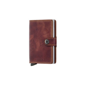 Mini porte carte MATTE RFID marron