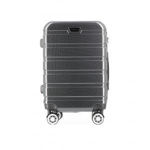 Valise cabine noir/gris 4 roues multidirectionnelles