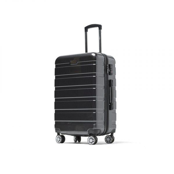 Valise Moyenne noir/gris 4 roues multidirectionnelles