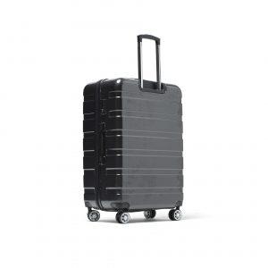 Valise XXL noir/gris 4 roues multidirectionnelles