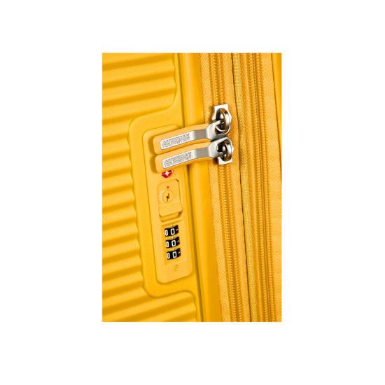 Valise 4 roues taille M 88473 jaune verrouillage