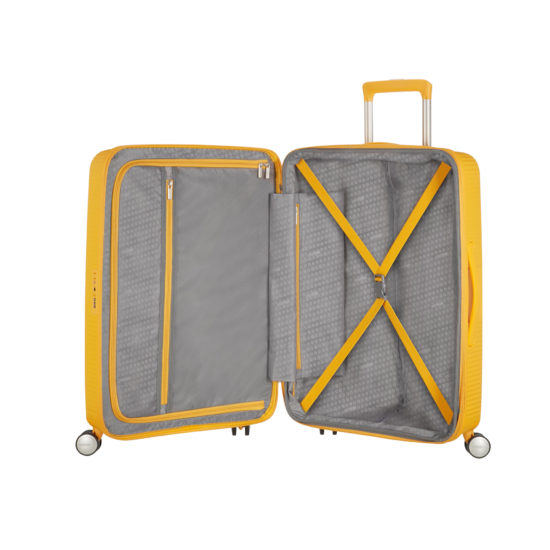 Valise 4 roues taille M 88473 jaune interieur
