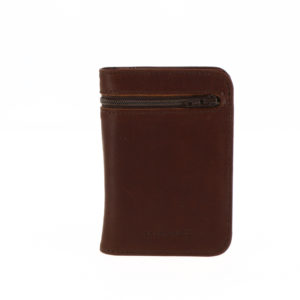 Portefeuille 9234 zip marron exterieur face