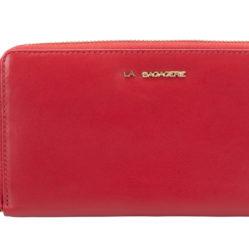 Porte monnaie 75007 rouge vue de face